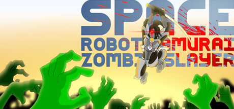 Space Robot Samurai Zombie Slayer Banner