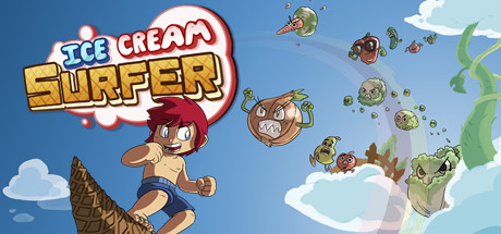 Ice Cream Surfer Banner