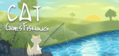 Cat Goes Fishing Banner
