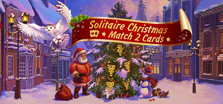 Solitaire Christmas. Match 2 Cards Banner