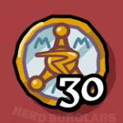 earn-30-badges achievement icon