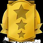 lofty-three-star achievement icon