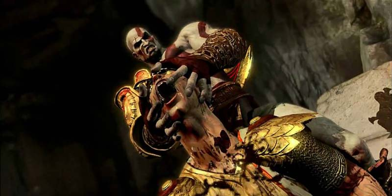 Kratos Ripping Head Off