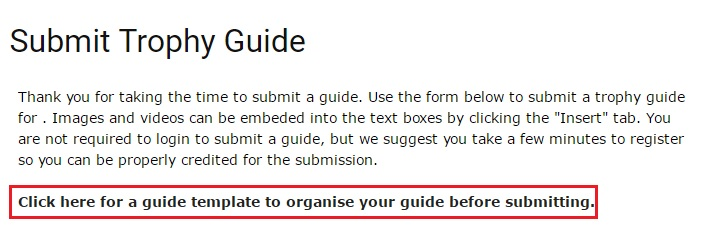 Trophy Guide Submission Template