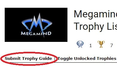 Submit a trophy guide link