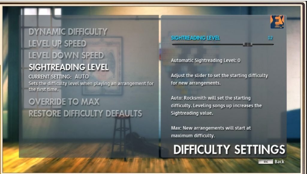 Rocksmith Play Settings